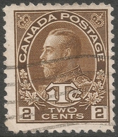 Canada. 1916 War Tax. 2c Used (Die II) P 12. SG240 - 1911-1935 Reign Of George V