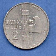Italie  -  2 Lires 1924 R  - Km # 63   - état  SUP - 1900-1946 : Victor Emmanuel III & Umberto II