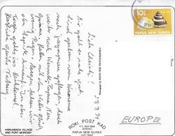 1689s: Papua New Guinea 1991, AK To Austria, Hanuabada Village An Port Moresby - Papua New Guinea