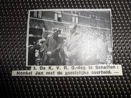 """Origineel Knipsel ( 2188 ) Uit Tijdschrift """" Ons Volk """"  1936  :  Nonkel Jan  Te Schaffen - Unclassified"""