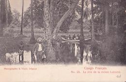 CONGO FRANCAIS N°23  La Rive De La Rivière LUEMME  ( Plan Animé ) - Congo Français - Autres