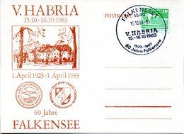 """(DDR-B2) DDR SonderKarte """"V. HABRIA - 60 Jahre Falkensee"""", EF Mi 2484, SSt. 15.10.1983 FALKENSEE 1 - [6] République Démocratique"""
