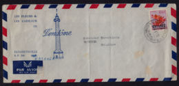 Cb5011 KATANGA 1961, Katanga Opt On Flower Stamp, On Elisabethville 7 Cover To Belgium, 12B(A) Cancellation - Katanga