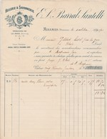 Facture Illustrée 4/10/1901 BARRAL SANTELLI  Huilerie Savonnerie La Fare MIRAMAS Bouches Du Rhône - 1900 – 1949