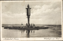 Cp Tossens Butjadingen Wesermarsch, Wattläufer Am Ziel, Signalturm, Wattenmeer, Panorama - Other