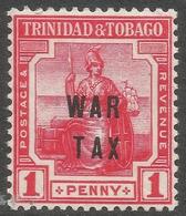 Trinidad & Tobago. 1917 War Tax. 1d MH SG 185 - Trinidad & Tobago (...-1961)
