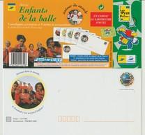 """France : 5 PAP Illustrés  """"Série Les Enfants De La Balle"""". - 1998 - - Entiers Postaux"""