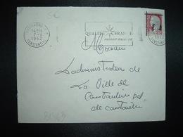 LETTRE TP M. DE DECARIS 0,25 Surchargé EA OBL.MEC.7-8 1962 CONSTANTINE RP QUALITE FRANCE PRODUIT D'ALGERIE - Algérie (1924-1962)