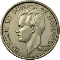 Monnaie, Monaco, Rainier III, 100 Francs, Cent, 1956, TTB, Copper-nickel - Monaco