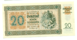 Slovakia 20 Korun 1942 SPECIMEN, Slovaquie,Slovacchia, Slowakei, Dvadsat Korun, ŠČ 22 - Slowakei