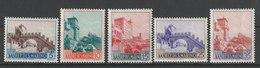 MiNr. 530 - 534  San Marino 1955, 15. Nov. Freimarken: Landschaften. RaTdr. (88, Davon 4 Textfelder); Wz. 5; Gez. K 14. - San Marino