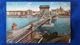 Budapest Lánchíd (Kettenbrücke) Hungary - Ungheria