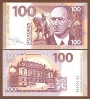 CZECHOSLOVAKIA 100 Korun 2018 UNC. 100 Years Of Czechoslovakia. Edvard Beneš. Private Essay. Specimen. - Billets