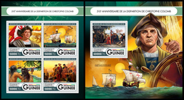 Guinea 2016 Christopher Columbus Klb + S/s MNH - Christoph Kolumbus