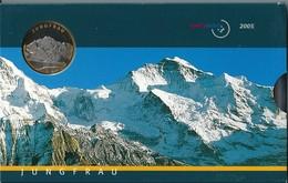 SVIZZERA 2005 - JUNGFRAU - DIVISIONALE FDC - N.° 9 Pezzi - Con 5 + 10 CHF (Fr. Sv.) - Confezione Originale (3 Foto) - Svizzera