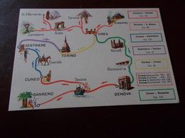 B714  Valle D'aosta Cartina Pubblicita Esso - Italia