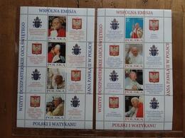 POLONIA 2004 - Viaggi Di Papa Giovanni Paolo II - 2 Mini Figlia Nuovi ** + Spese Postali - 1944-.... Repubblica