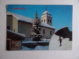 39 LAMOURA Eglise Ski De Fond Fondeur Skieur - France