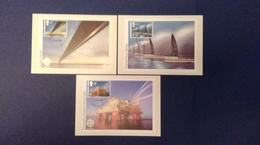 1983 'EUROPA' BRITISH ENGINEERING ACHIEVEMENTS STAMPS P.H.Q. CARDS WITH A CHELMSFORD F.D.I. POSTMARK - Maximum Cards