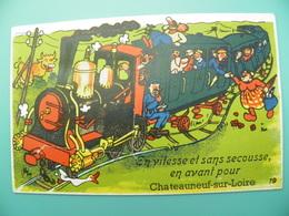 ST/150 - 45 - Chateauneuf Sur Loire -  Train Loco Vapeur -GABY 19- - France