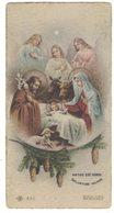 CS25    Santini, Image Pieuse, Holy Card - NATUS EST NOBIS SALVATOR MUNDI - Ed. G. Nicolini - Santini