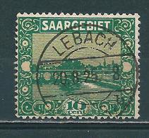 Saar MiNr. 86 Vollstempel  LEBACH (0458) - 1920-35 Saargebiet – Abstimmungsgebiet