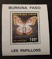 BURKINA FASO BLOC    PAPILLON  NEUF 1995 - Burkina Faso (1984-...)