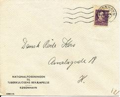 Denmark Cover Copenhagen 22-6-1946 Single Franked PERFIN NF (Nationalforeningen Til Tuberkulosens Bekæmpelse) - 1913-47 (Christian X)