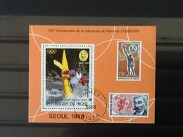 Niger Block Olympic Games Seoul 1988. - Niger (1960-...)