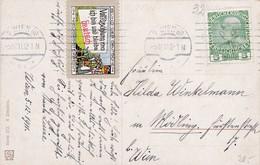 """""""Ich Bin Und Bleibe Deutsch"""". Volkszählung 1910. Mitgestempelte Spendevignette 1911 - 1. Weltkrieg"""