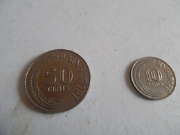 Lot  De 2 Pieces De  SINGAPOUR  (50-10 Cent) - Singapour