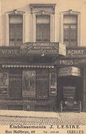 Ixelles - Etablissements J Lesire, Rue Malibran (vente Achat Automobiles Pneus Oldtimer Pneus Ford) - Elsene - Ixelles