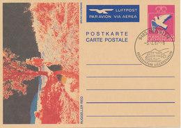 Liechtenstein Postal Stationery Postcard Nendeln 3-2-1987 (Ruggeller Ried) - Liechtenstein