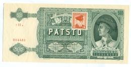 Slovakia 500 Korun 1941 SPECIMEN, Slovaquie,Slovacchia, Slowakei, Patsto Korun, 7 H A + Stamp, RARE - Slowakei