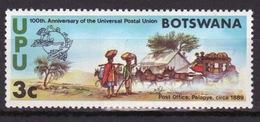 Botswana 1974 Single Commemorative Stamp From The Centenary Of The UPU Set. - Botswana (1966-...)