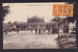 FRANCE 1922 Carte Postale - Saint-Valéry En Caux - La Gare - Convoyeur Saint-Valéry à Motteville - Storia Postale