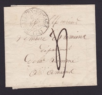 FRANCE 1832 Pli De Saint-Valéry En Caux à Amiens - Cachet Type 13 - TTFM 4 - Marcophilie (Lettres)