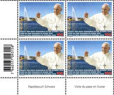 Viererblock 2018 Papstbesuch In Genf** / Pope's Visit To Geneva / Visite Du Pape à Genève / Visita Del Papa A Ginevra - Nuovi