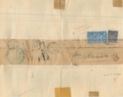 COURRIER RETOUR A L'ENVOYEUR 1880 TRIBUNAL D'INSTANCE DE CARPENTRAS - 1876-1898 Sage (Type II)