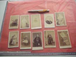 10 Ver Y Old Photo Daguerréotype CDV  Vintage, Cartes De Visite PRETRES Geestelijken Nonnen Priesters Pausen Vóór 1900 - Famous People