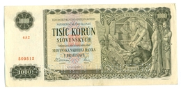 Slovakia 1000 Korun 1940 SPECIMEN, Slovaquie,Slovacchia, Slowakei, Tisic Korun, 4A2 - Slovaquie