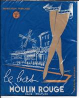 PAIRE De Bas Le Bas MOULIN ROUGE Sans Couture Nylon 15 Deniers  Avec Emballage D'origne - Bas