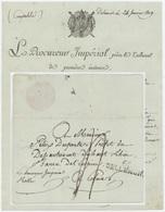 66 Dellemont Delemont Indice 16  1809 Héraldique Le Procureur Impérial - Postmark Collection (Covers)