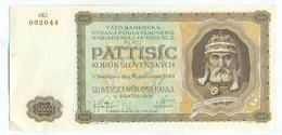 Slovakia 5000 Korun 1944 SPECIMEN, Slovaquie,Slovacchia, Slowakei, Pat Tisic Korun, 4Kl - Slovakia