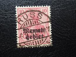 Memel 2 Gestempelt Tiefst Geprüft  (189) - Memel (Klaïpeda)