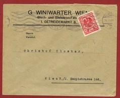 Infla Ab 15/4/1920 Inlandbrief 80 H. Perfin G W (Winiwarter Wien) - 1918-1945 1st Republic