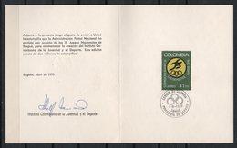 Colombia. 1970. Instituto Colombiano De La Juventud Y El Deporte. - Colombia