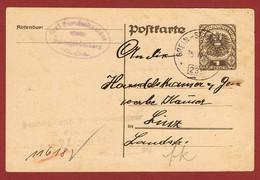 Infla Ab 1/2/1921 Inlandpostkarte1 Kr Bahnpoststempel Grein - St. Valentin 235 - Briefe U. Dokumente