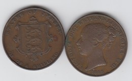 Jersey Coin QV One Thirteenth Of A Shilling 1/13 Dated 1858 - Jersey