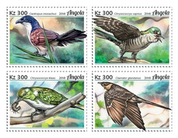 Angola. 2018 Cuckoos. (121a) OFFICIAL ISSUE - Coucous, Touracos